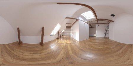 Photo pour Sphérique 360 panorama projection salle vide intérieur 3 D rendu - image libre de droit
