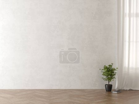 Photo for Interior empty room 3 D rendering - Royalty Free Image