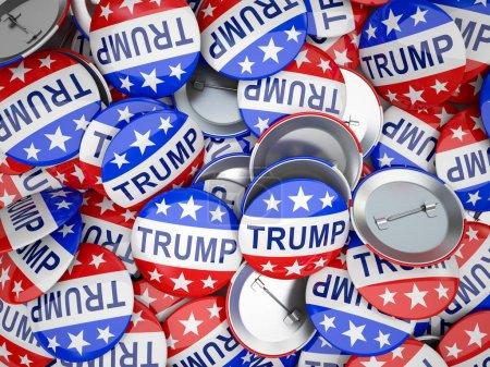 Photo pour De nombreux boutons de vote américains illustration - image libre de droit