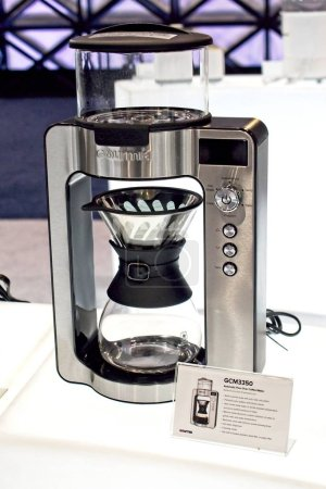 Photo for Las Vegas, NV, USA, Jan. 8, 2019: The annual CES show highlights the lates in coffee culture from Gourmia's stylish line of kitchen appliances. - Royalty Free Image