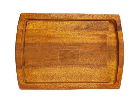 Photo pour Planche à découper en bois vide sur fond blanc - image libre de droit