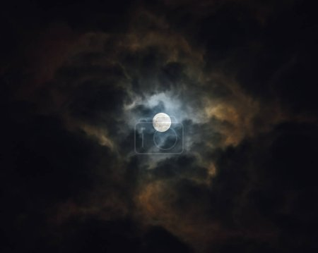 Photo for Moon at night with clouds - Royalty Free Image