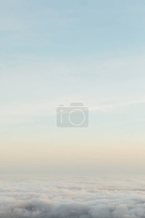 Photo for Above the clouds, minimalism nature background - Royalty Free Image