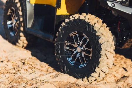 Photo pour Roues de moto quad Atv - image libre de droit
