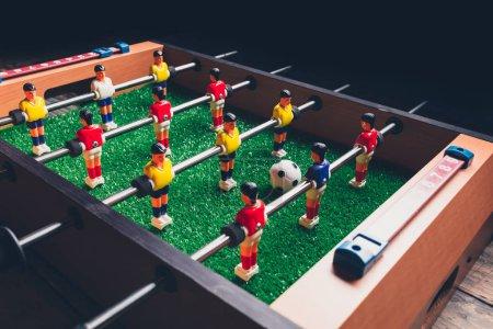 Photo pour Football de table joueurs de jeu de kicker - image libre de droit