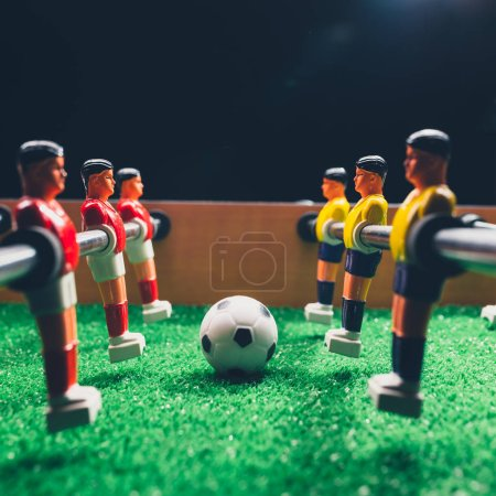 Photo for Table football soccer kicker game players - Royalty Free Image