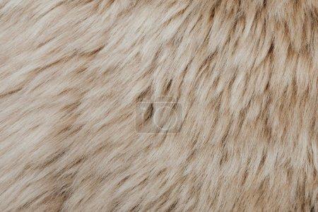 Photo pour Fond de texture en peau de mouton marron fourrure - image libre de droit