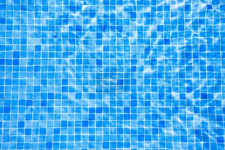 Photo for Water and blue tile in swimming pool - Royalty Free Image