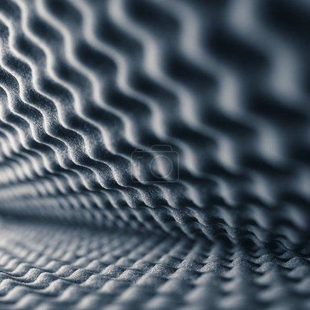 Foto de Espuma acústica fondo gris abstracto - Imagen libre de derechos
