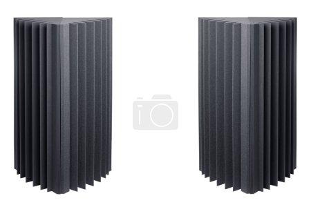 Foto de Trampillas de espuma acústica para amortiguación de sonido, aisladas en blanco - Imagen libre de derechos