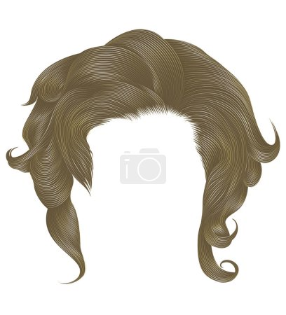 Illustration for Trendy  woman curly hairs blond - Royalty Free Image