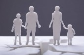 Photo Of Family Silhouette Separated By Cracked Surface