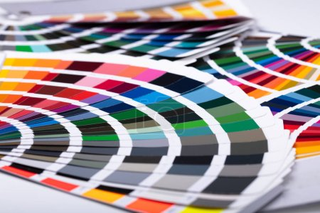 Photo for Close-up Photos Of Several Colorful Palette Guides - Royalty Free Image
