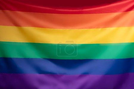 Full Frame Of Multi Colored Rainbow Flag