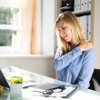 Young Businesswoman Suffering From Neck Pain Sitti...