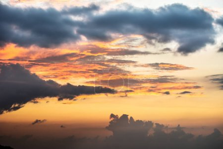 Photo for Photo Of Dramatic Sky Sunset With Clouds - Royalty Free Image