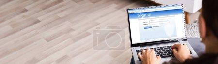 Photo pour Formulaire d'inscription sur le site Web avec mot de passe et connexion - image libre de droit