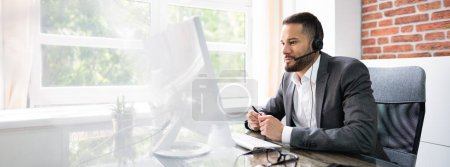 Photo for Customer Service Agent Man In Call Center - Royalty Free Image