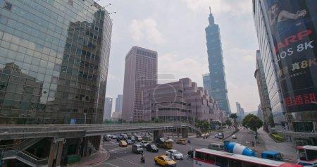 Taipei city, Taiwan - 28 May, 2018: Taipei city traffic on the road