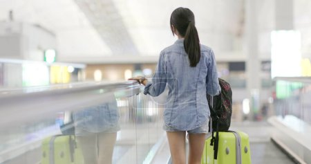 Photo for Asian woman go travel in the airport - Royalty Free Image