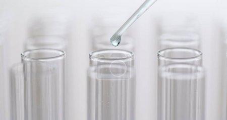 Drop liquid in test tubes