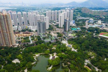 Photo pour Vue aérienne de Hong Kong de bâtiments résidentiels - image libre de droit