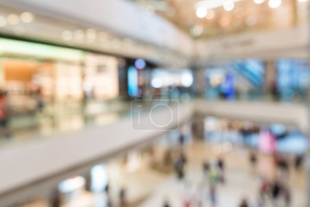 Photo for Blurred image of shopping mall and people - Royalty Free Image