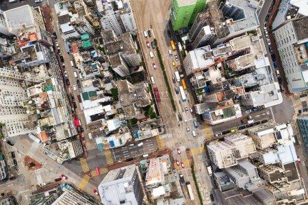 Top view of buildings in Hong Kong