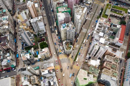Aerial view of buildings in Hong Kong