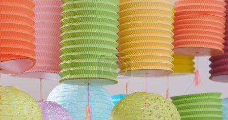 Photo pour Lanternes chinoises traditionnelles pour la fête de mi-automne - image libre de droit