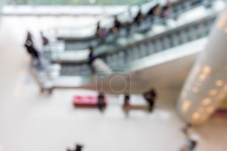 Bokeh view of shopping plaza