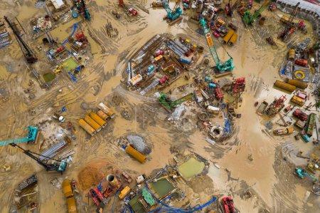 Photo pour Haut vers le bas du chantier de construction - image libre de droit