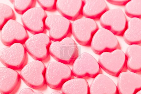 Photo for Heart shape candy texture - Royalty Free Image