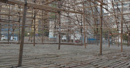 Photo for Chinese opera performance Bamboo scaffold - Royalty Free Image