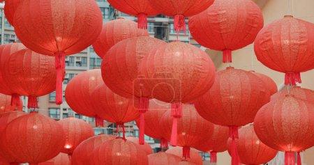 Photo pour Lanternes chinoises pour le Nouvel An lunaire - image libre de droit
