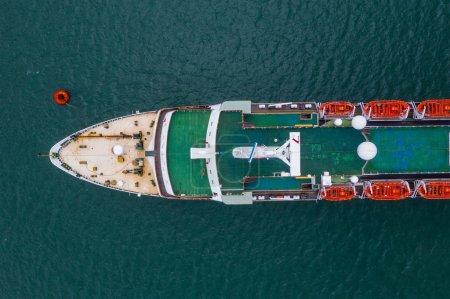 Photo for Hong Kong - 02 June, 2019: Top view of Hong Kong cruise - Royalty Free Image