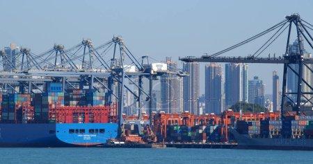 Photo for Kwai Tsing, Hong Kong 29 November 2019: Kwai Tsing Container Terminals - Royalty Free Image