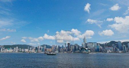 Photo for Victoria Harbor, Hong Kong 27 July 2019: Hong Kong harbor - Royalty Free Image
