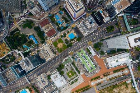Photo for Central, Hong Kong 24 September 2020: Top view of Hong Kong city - Royalty Free Image
