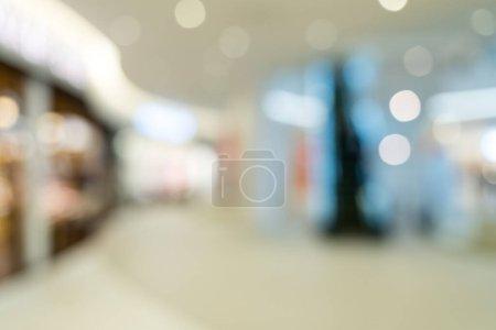 Photo pour Vue floue du centre commercial - image libre de droit