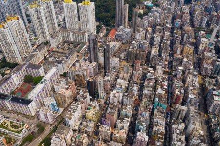 Photo for Sham Shui Po, Hong Kong, 14 April 2019: Top view of Hong Kong city - Royalty Free Image