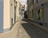 Riga, narrow street in tht old town