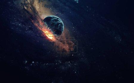 Photo pour Galaxie dans l'espace, beauté de l'univers, le trou noir. Éléments fournis par la Nasa - image libre de droit