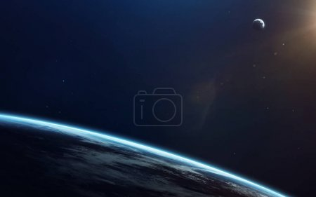 Photo for Little blue planet Earth in deep space. Elements of this image furnished by NASA - Royalty Free Image