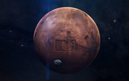 Foto de Imagen realista de Marte, planeta del sistema solar. Imagen educativa. Elementos de esta imagen amueblada por la Nasa - Imagen libre de derechos