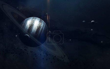 Photo pour Beauté de l'espace lointain, planètes, étoiles et galaxies dans l'univers sans fin. Éléments de cette image fournie par la Nasa - image libre de droit