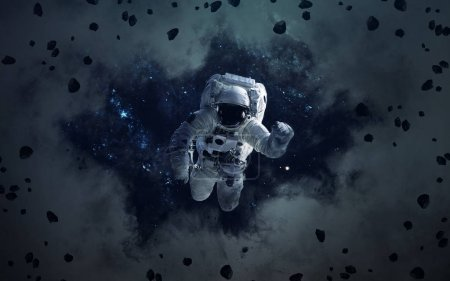 Science fiction space wallpaper with astronaut, incredibly beaut