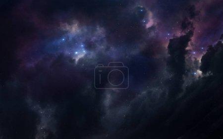 Foto de Fondo de pantalla de ciencia ficción espacial, increíblemente hermosos planetas, galaxias, oscura y fría belleza del universo sin fin. Elementos de esta imagen proporcionada por la Nasa - Imagen libre de derechos