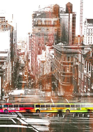 Photo for Urban city pattern background - Royalty Free Image
