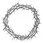 crown of thorns easter religious symbol of Christianity hand drawn vector illustration sketch